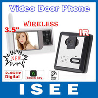 Wholesale Home GHz Wireless Video Door Phone Doorbell Intercom System quot LCD New Door Bell Touch Key PHOTOGRAPH