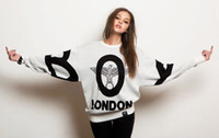 Wholesale Fashion boy london punk eagle print loose long sleeve autumn and winter lovers sweatshirt