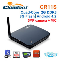 Wholesale 2013 Best Sell Cloudnetgo CR11S RK3188 Quad Core Android4 TV Box with MPCamera and Microphone RJ45 BT google TV Box