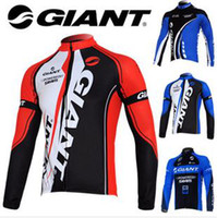 Wholesale new sale Long sleeve Giant cycling jersey cycling team jersey men Bike jerseys upper shirt Outdoor wear sping autumn