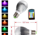 Wholesale 5W AC V E27 LED RGB Light Bulb Colorful Million Colors table Lamp Remote Control
