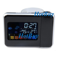 Digital Alarm Clocks  Digital LCD Projection Clock Alarm Calendar Weather Forecast Station Humidity #2754