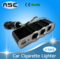 Wholesale GPS x USB Auto Car Cigarette Lighter Socket Splitter Plug Charger DC12V Adapter Accessory