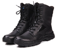 Ankle Boots Martin Boots Men New Genuine First Layer Leather Men's Army Boots High-Top Boots Outdoor Hiking Combat Boots