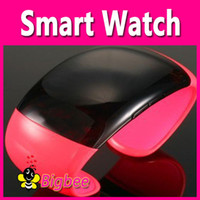 Wholesale 2014 Bluetooth Bracelet Smart Watch with Time Display Answer Call Alarm Vibration
