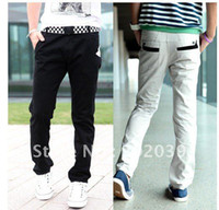 Wholesale jeans Fashion Men s Stylish Designed Straight Slim Fit Trousers Casual Long s YJ609 Abie