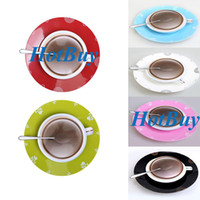 Wholesale Creative Plastic Novelty D Coffee Cup Design Wall Clock for Home Office Decoration