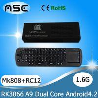 Wholesale MK808 Android Mini WIFI HDMI Media Player TV Box Stick with Dual Core Cortex A9 GHz RAM GB GB Flash RC12 Keyboard