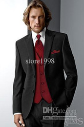 Wholesale Groom Tuxedos Best man Suit Wedding Groomsman Men Suits Bridegroom Jacket Pants Tie Vest Z120
