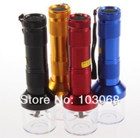 Wholesale New Torch Shaped Electric Grinder Crusher Herb Tobacco Spice Smoke Grinders vaporizer click n vape Quickly Aluminum CM