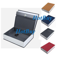 Wholesale Security Dictionary Book Cash Money Jewelry Safe Storage Box Metal Case with lock
