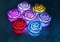 Wholesale LED Rose Flower led roses love night lamp