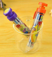 Wholesale cartoon colors in one kawaii novelty ballpoint pen cute korean stationery new creative gift for kids