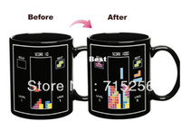 Wholesale Free FedEx shipping Tetris Color Changing Mug Amazing Ceramic Cup Coffee Cup yr warranty