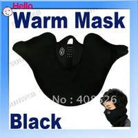 Body Armors 599# Neoprene and thermal fleece New Black Blue Two Colors Neoprene Neck Warm Face Mask Veil Guard Sport Bike Motorcycle Ski Snowboard 599