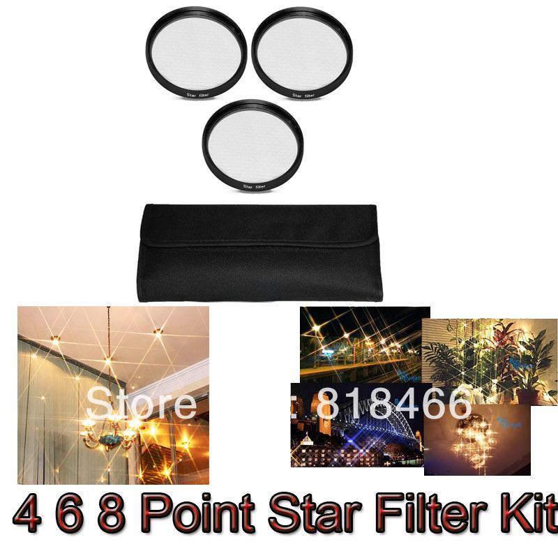 58mm 4 6 8 Point Star Filter