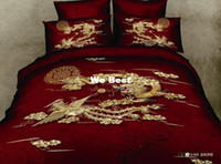Adult Twill 100% Cotton 5PCS comforter sets china dragon red 2013 3d queen bed sheets duvet covers bedspread bedding sets bed linens bed sets bedclothes