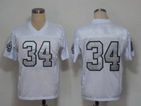 Football Men Short Bo Jackson 34 Retro Jerseys Mens Throwback American Football Jerseys Newest Football Wears 2014 Hot Sale Sports Jerseys