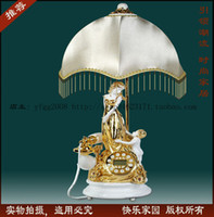 Wholesale Specials pastoral style table lamp telephone Antique Telephone resin phone stereo painting phone