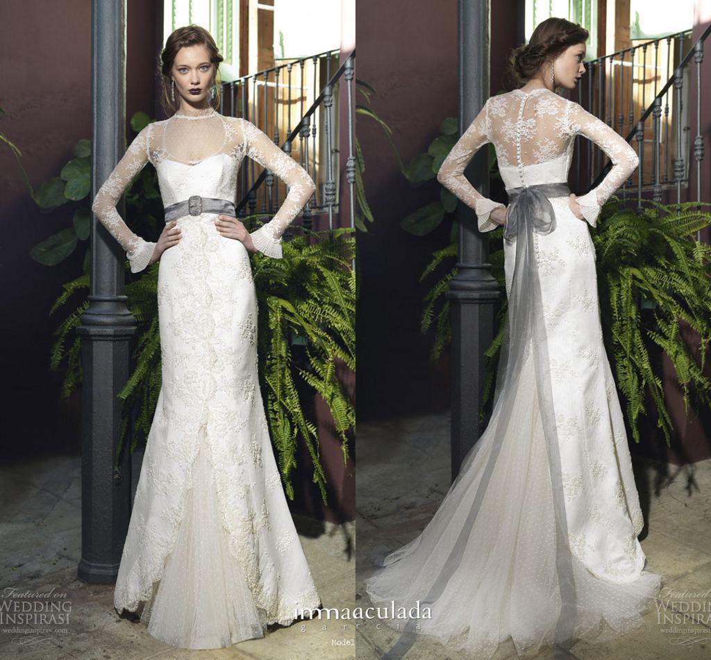 Left: Tony Hamawy Cecile Wedding Dress; Right: Winifred Bean Daisy