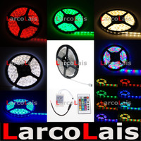 Wholesale 5M Roll SMD Waterproof LEDs M LEDs Warm Cool White Red Green Blue Yellow RGB Flexible LED Strip Light