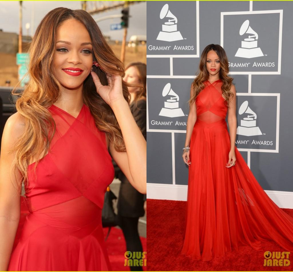 2015 Hot Sale Cheap Sexy Celebrity Dresses Rihanna In Grammys Red ...