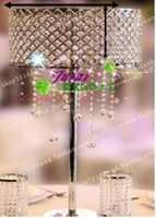 Wholesale Modern fashion crystal glass tieyi grille floor crystal lamp mousse wedding road cited decoration