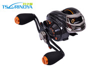 Wholesale Super Deal Trulinoya TS1200 Ball Bearings left hand BaitCasting fishing reel Black color reels g