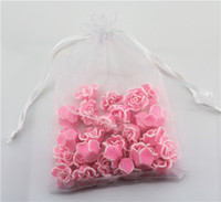 Wholesale 100 white color organza gift bag drawstring bags cm