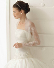 Wholesale 2014 Long Sleeve Lace Wedding Jacket Handmade Bridal Jacket Wraps Bolera Bridal Accessories Capelet Aire Barcelona Custom Made