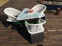 Wholesale outdoor wicker furniture set wicker table and chair
