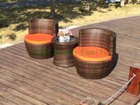 Wholesale rattan round sofa sectional outdoor furniture