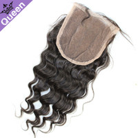 Deep Wave Malaysian Hair malaysian Hair Free Shipping Malaysian Virgin Hair lace top closure loose deep body wave 4x4 bleached knots 10-20inch natural color can be dye