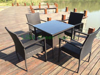 dining table and chair - outdoor rattan dining table and chair rattan dining furniture