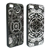 aztec calendar - S5Q Aztec Calendar Star of David Case Back Cover Protector Skin For iPhone S AAACSV