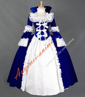 Wholesale Victorian Corset Dress Gothic Civil War Ball Gown Theater clothing Medieval Velvet Vintage Stage Cosplay Costume