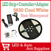 Wholesale 5m Complete Set SMD LED Strip Nonwaterproof Light Keys Remote Controller Power Adapter DC Connector LED043