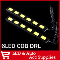 2013 A4,A6,Accent,Accord,Astra,Asx,Camry,Civi 6LED COB DRL 2 x 6 COB LED Driving Daytime Running Light Car Truck DC 12V DRL Fog Lamp Kit Led DRL COB High Power for Hyundai Focus