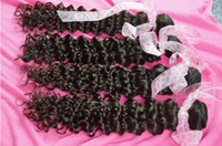 Brazilian Hair Curly 10-34 inch Mixed Length 4 Bundles 34 Inch Hair Brazilian Deep Curly Virgin Hair Afro Curly Hair Extensions 5A Dyeable Spring Curls Virgin Hair Weaves