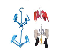 Wholesale Creative Hanger hanging shoe Hanger shoe rack foldable plastic household products Housekeeping