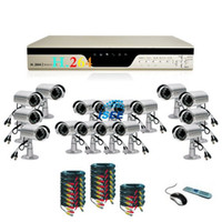 Wholesale Most Economical CH CCTV DVR Outdoor Night Vision Cameras System with TB HDD