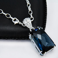 Free Shipping Delicate colors 925 Silver BLUE jewelry crysta...