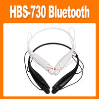 Wireless Cell Phones Stereo Wholesale - HBS 730 Wireless Stereo Noise Reduction Bluetooth Headset With Caller Vibration Support SMS Reader on Android Devices(0107028)