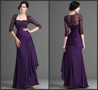 2014 Long Sleeve Lace Mother Of The Bride Dresses With Jacke...