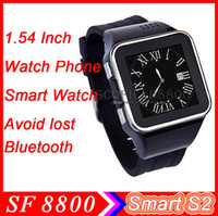Wholesale Watch Phone Smart Watch S2 Inch Touch Screen for Android cell phone smart phone IOS Sync Phonebook Call SMS Anti avoid Lost alarm