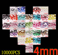 Wholesale DIY accesories10000pieces mm flatback loose rhinestones for shoes phone bag anywhere you can