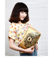 1pcs Fashion Printing Cat Chain Golden Clutch Shoulder Bag #...