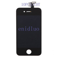 For Apple iPhone YL-001  10PCS LOT OEM LCD Assembly Display Touch Screen With Digitizer Replacement Black For iPhone 4 4S Free Shipping