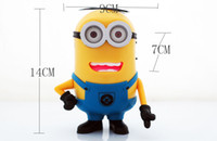 Wholesale MP3 Player Portable DESPICABLE ME Mini Speaker Amplifier Micro SD TF Card USB Disk Computer Minions Speaker with FM Radio