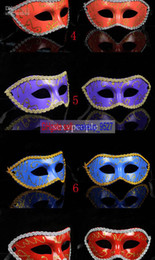 Wholesale Free china air post shipping masquerade costume party new year christmas halloween dance women sexy mix face mask venetian masks